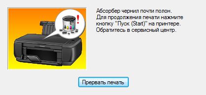 Как сбросить абсорбер (памперс) принтера Canon Pixima 4940?